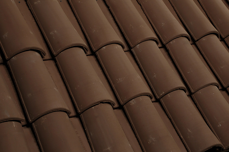 Texture of clay roof tiles