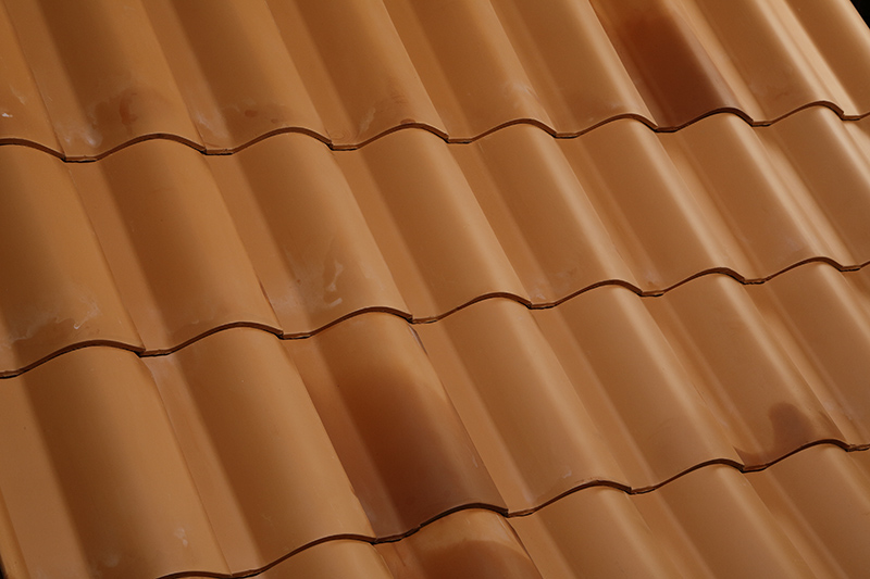 Clay roof tiles for home.